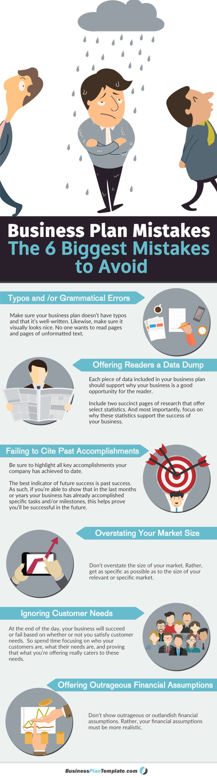 Business plan mistakes infographic
